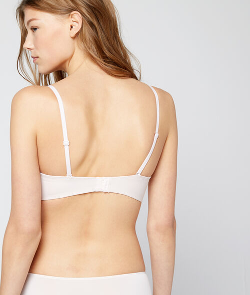 Lightly padded bandeau, removable straps