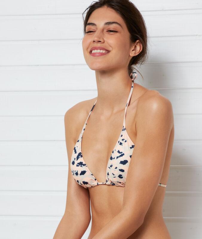 Triangle bikini top coral.