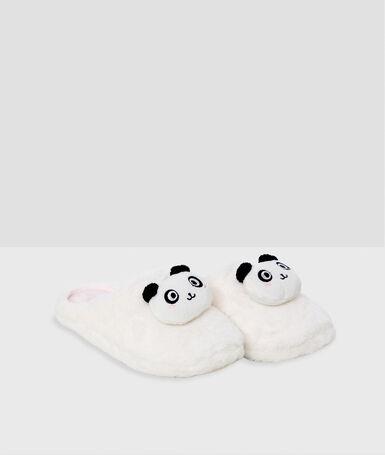 Panda slippers ecru.