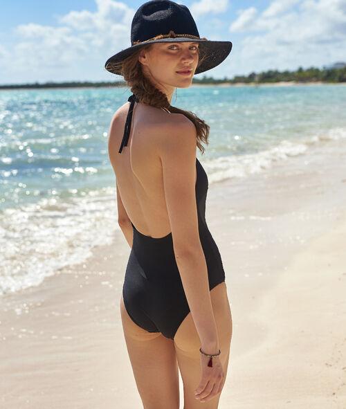 Lattice front swimsuit