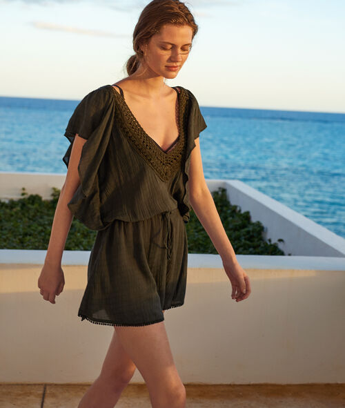 Beach cover up with tassels