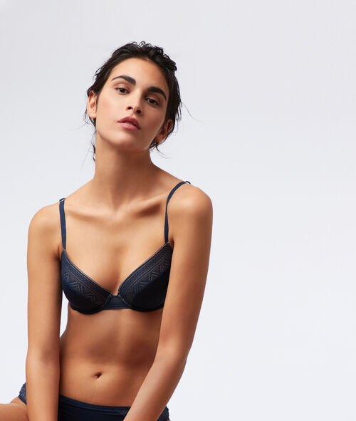 Bra n°5 - classic padded lace bra with microfibre