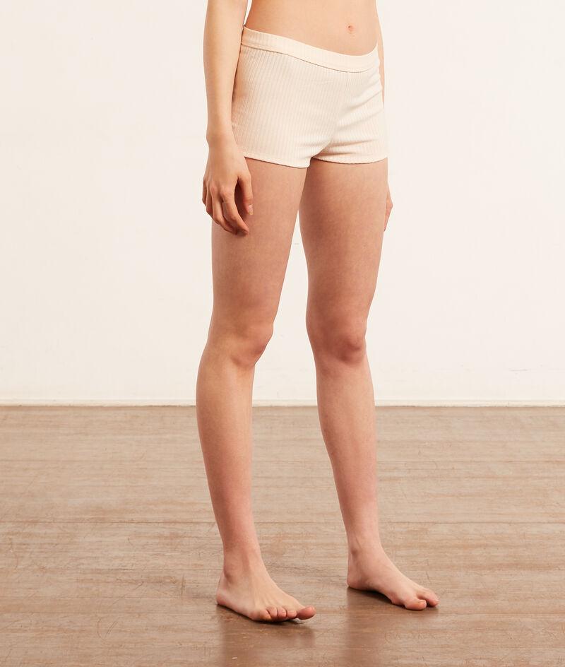 Ribbed Knit Boy Leg Shorts;${refinementColor}