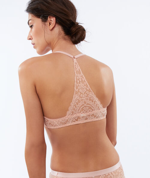 Bra no. 2 - lace plunging push-up, structured racer back