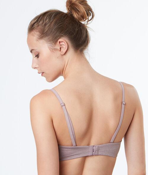 Microfibre band bra