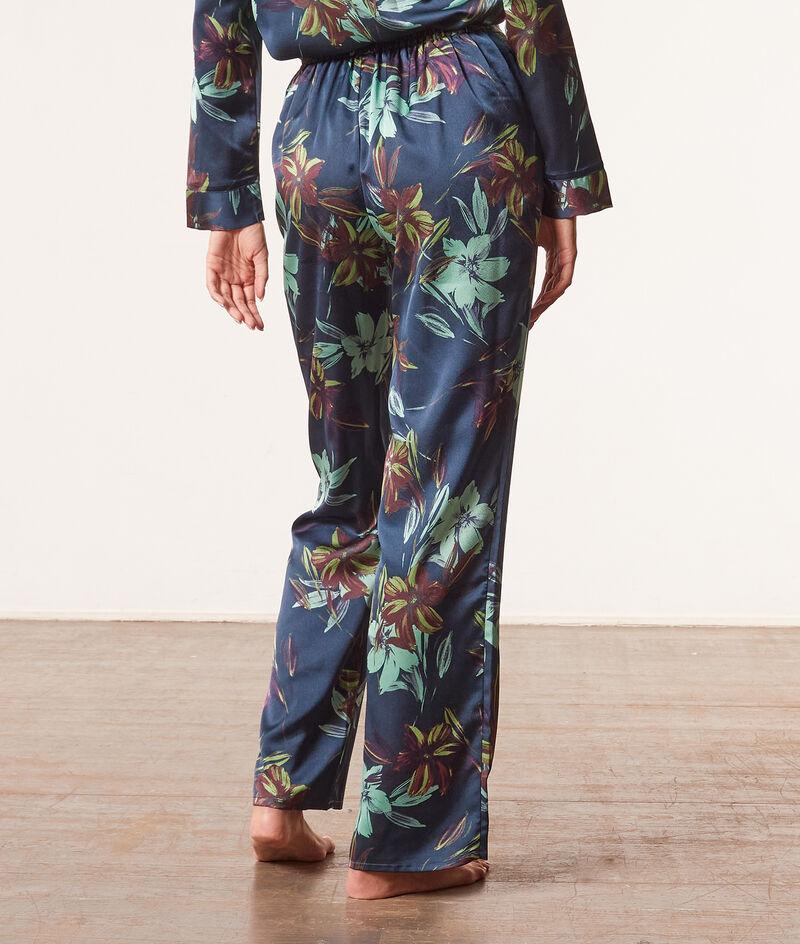 Print satin pyjama bottoms ;${refinementColor}