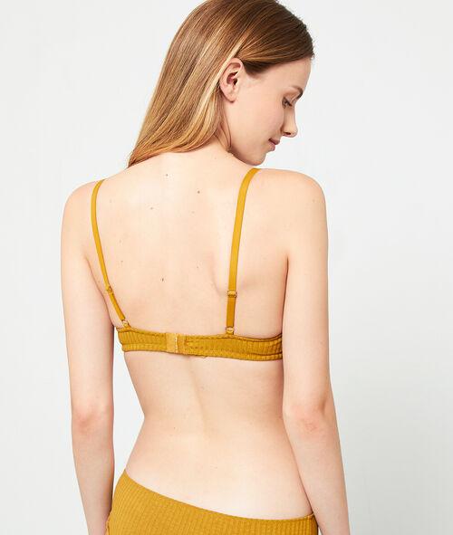 Ribbed padded triangle bra