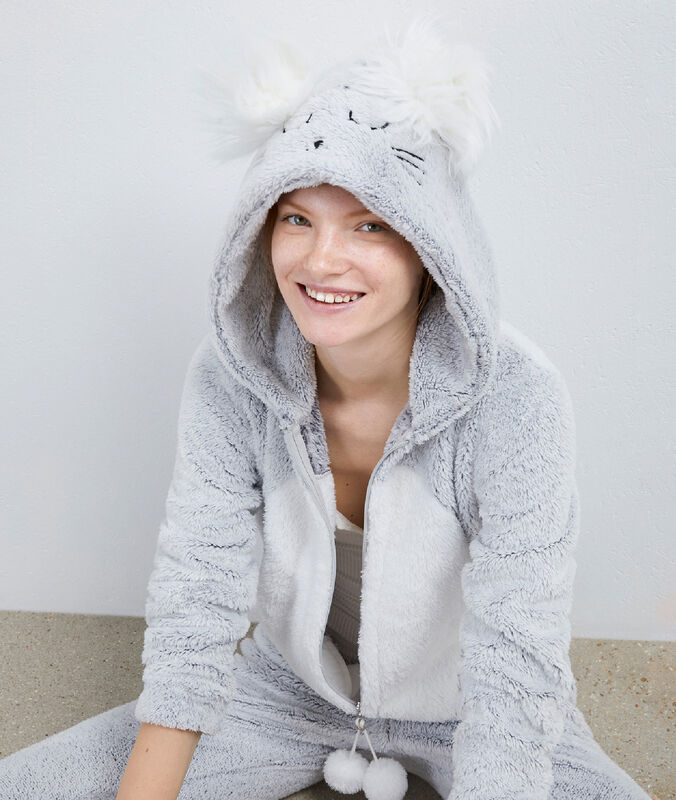 Mouse onesie gray.