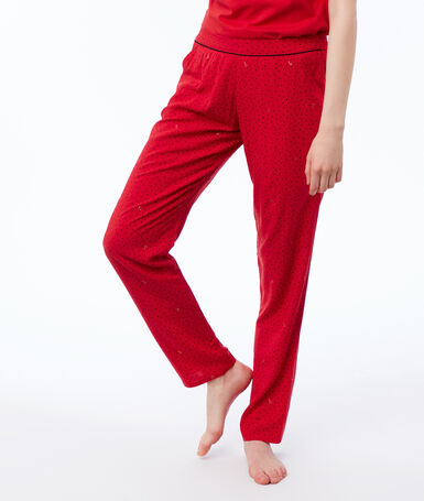 Printed trousers red.