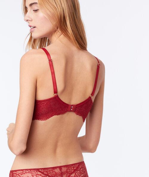 Lace demi-cup bra