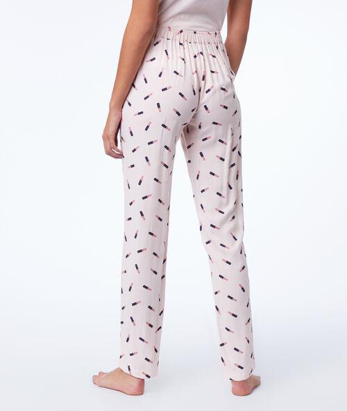 Lipstick print pyjama trousers