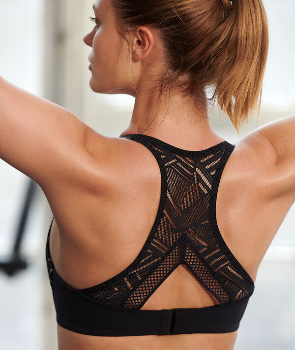 Lace back sports bra - hight support