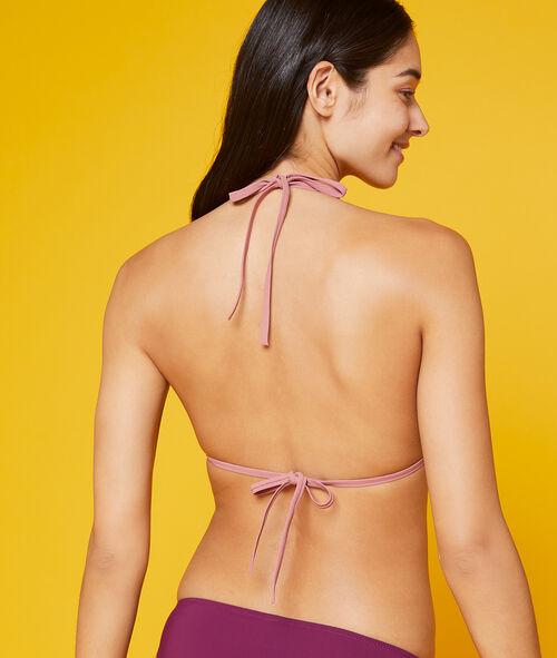 Haut de maillot de bain triangle, bicolore