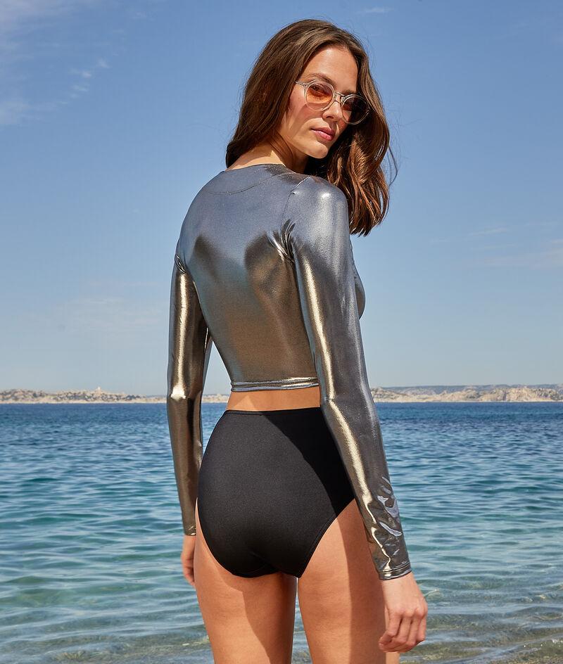 Long-sleeved surf crop top;${refinementColor}