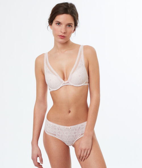 Graphic lace tangas