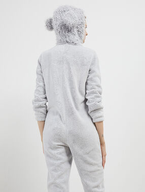 Dog onesie gray.