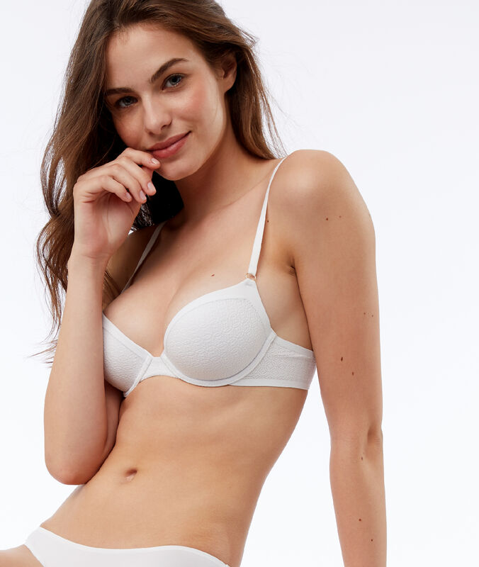 Bra no. 1 - microfiber push-up bra white.
