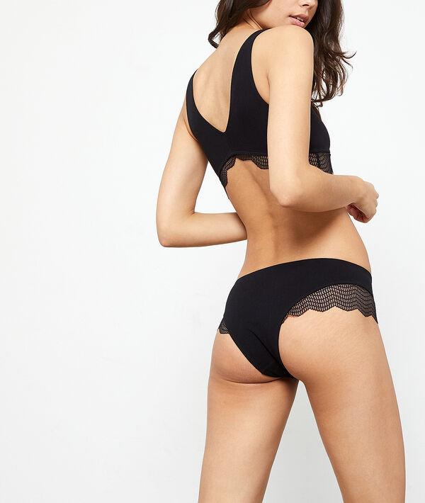 Seamless hipster, lace detailing