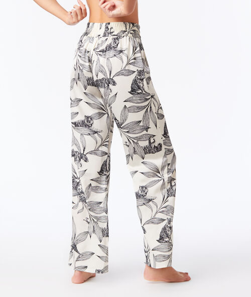 Large floral trousers