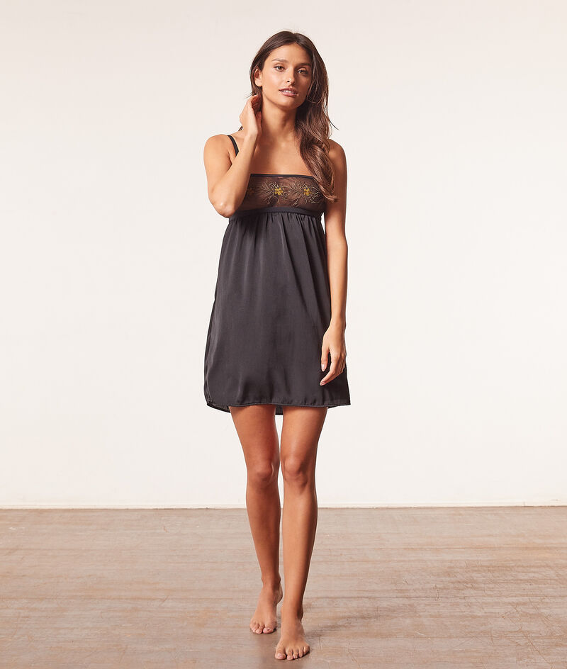Empire line nightdress with embroidery detail ;${refinementColor}