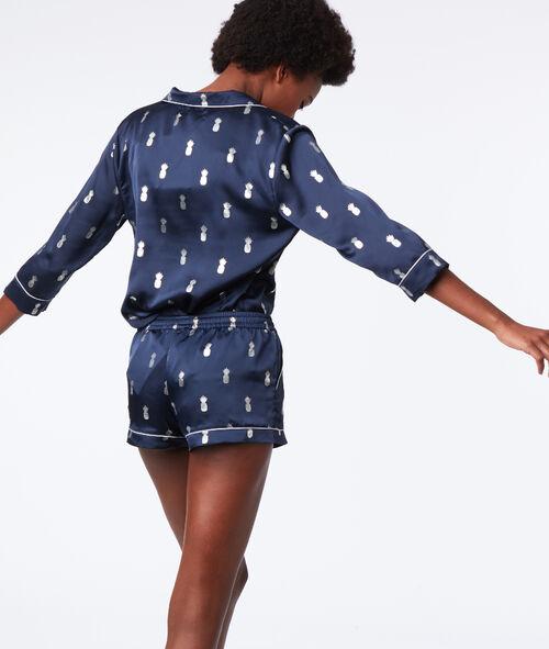 Pineapple print pyjama shirt