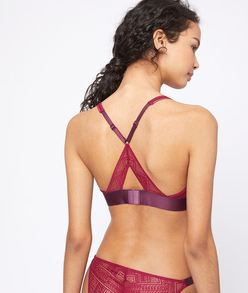 Lace Triangle, satin detailing