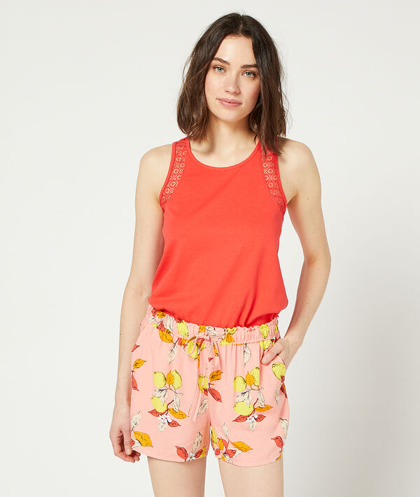 Shorts in a foliage print;${refinementColor}