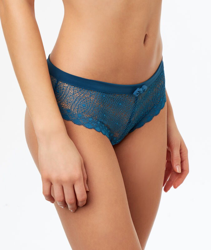 Lace hipsters blue.