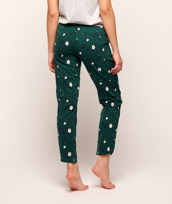 Trousers in tiny flowers print ;${refinementColor}