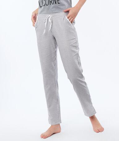 Striped trousers ecru.