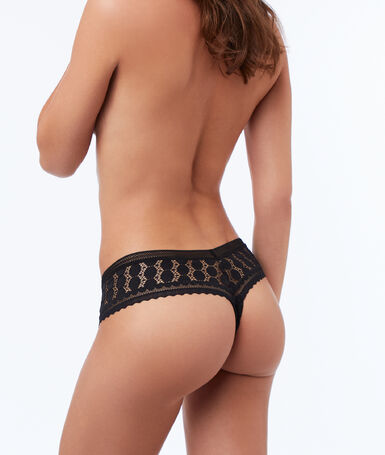 All-lace tanga black.