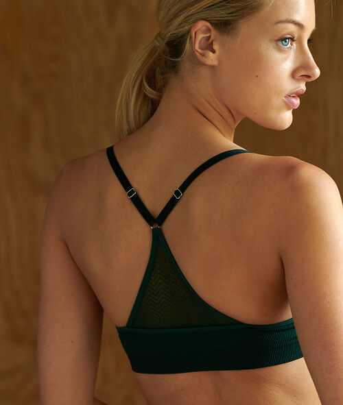 Cross back microfiber bralette