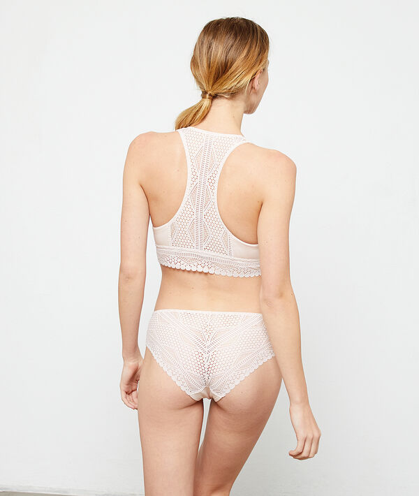 Modal and lace shorty;${refinementColor}