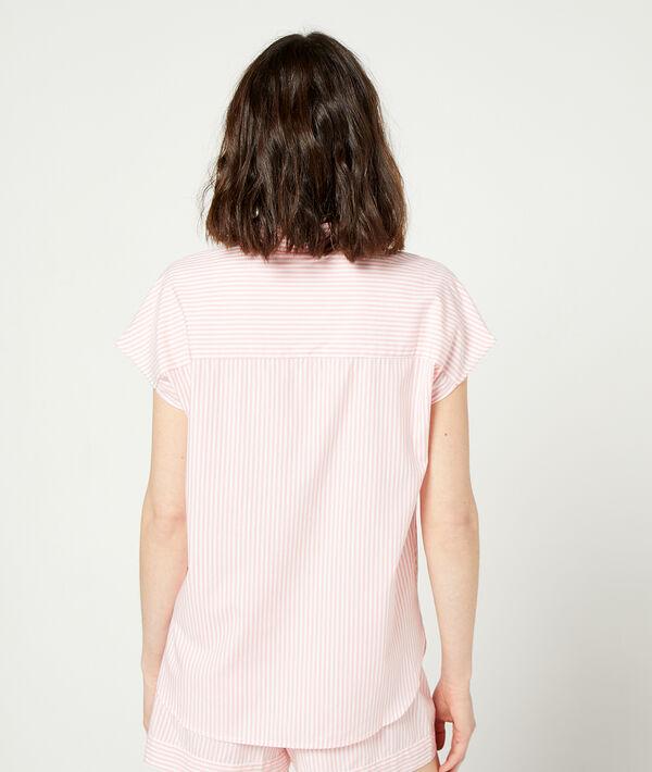 Pyjama shirt in stripes;${refinementColor}