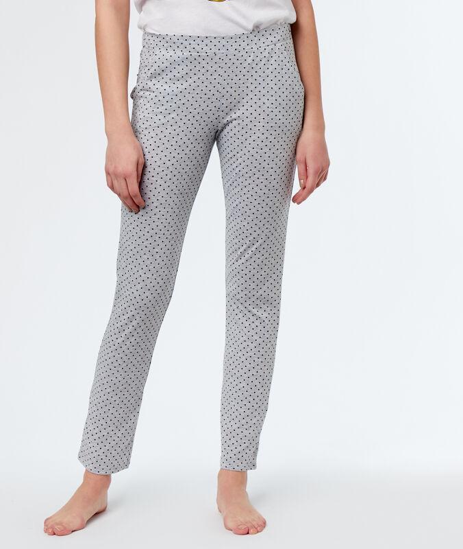 Printed pyjamapants grey.