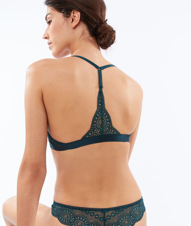Bra no. 4 - classic padded lace bra with racer back fir.