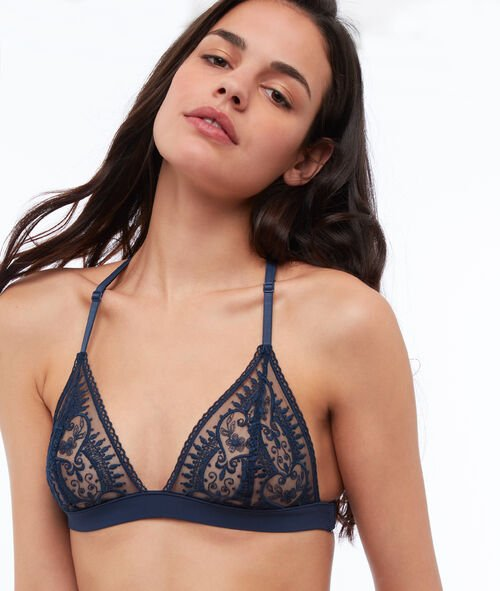 Lace triangle, racer back