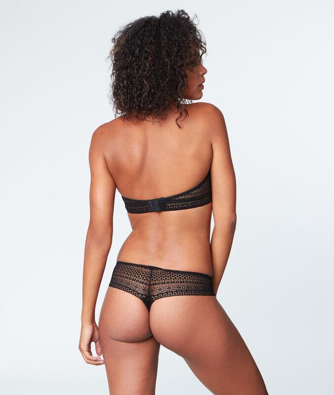 Lace thong black.