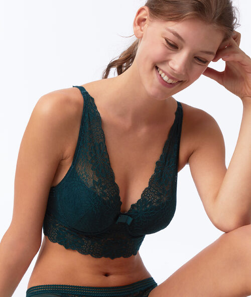 Bra No. 6 - lace padded bra with underbust band
