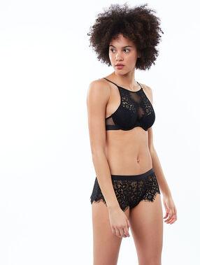 Bra no. 4 - lace padded bra black.