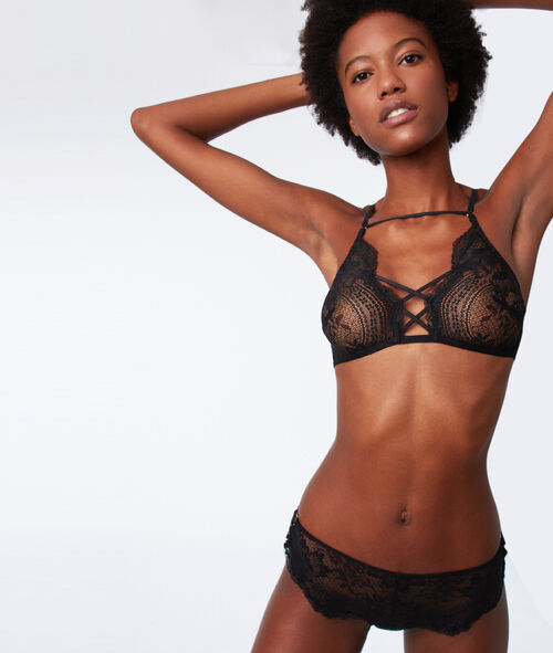 Lace bralet with ties