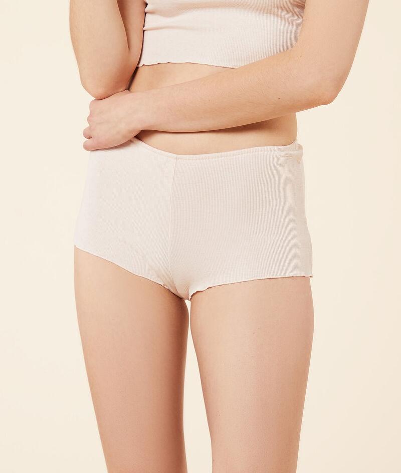 Ribbed boy leg shorts, vegetable dye;${refinementColor}
