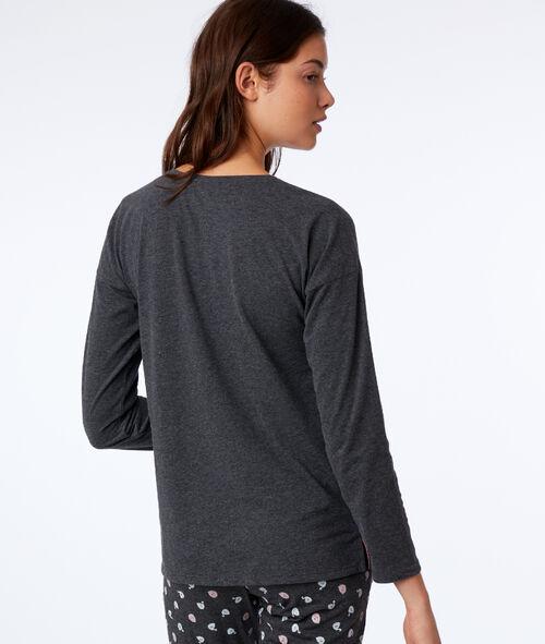 Long sleeves slogan t-shirt