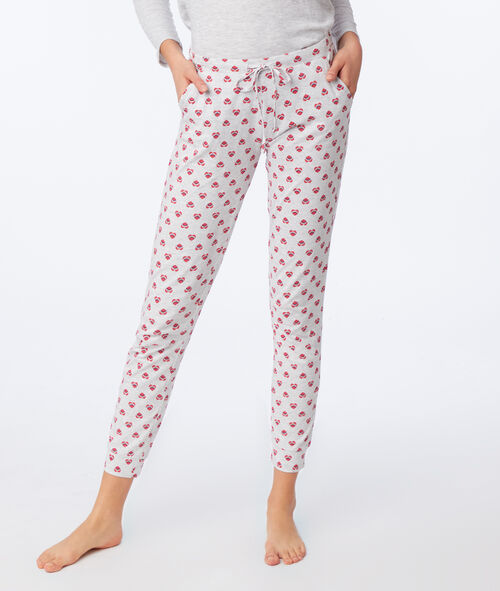 Heart print trousers