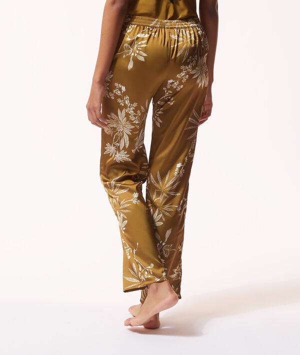 Printed satin trousers;${refinementColor}