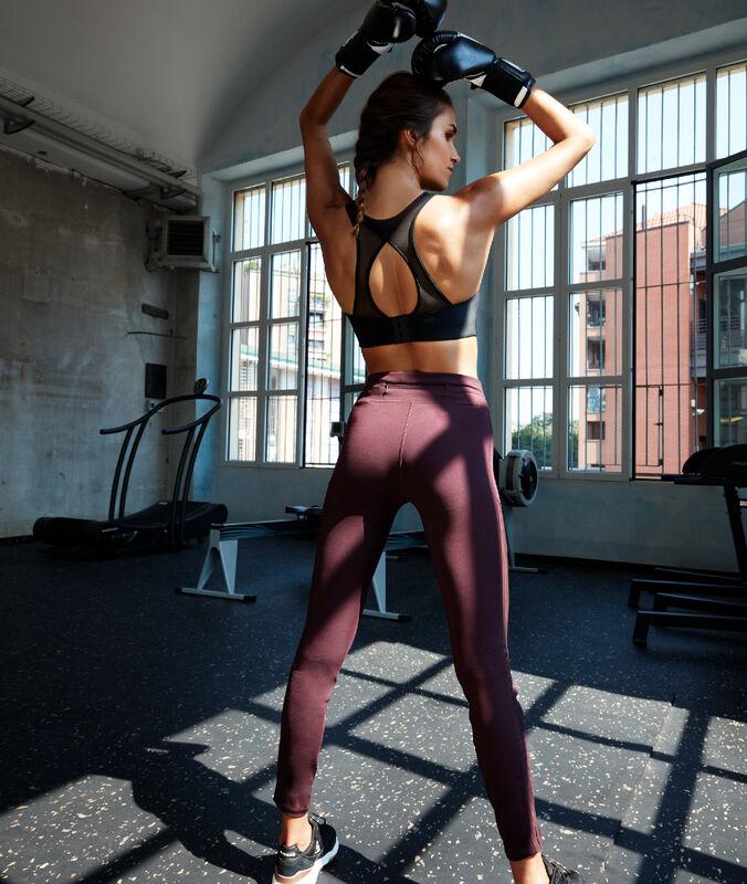 Legging, fancy elastic side blackcurrant.