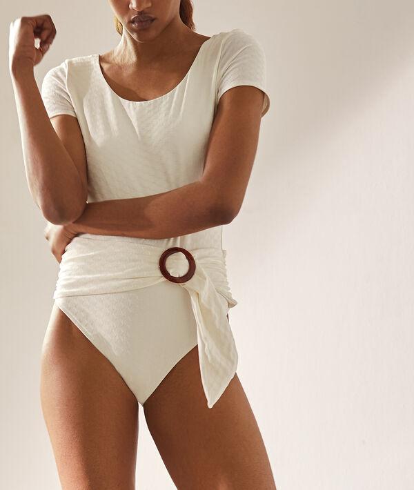Buckled belt swimsuit