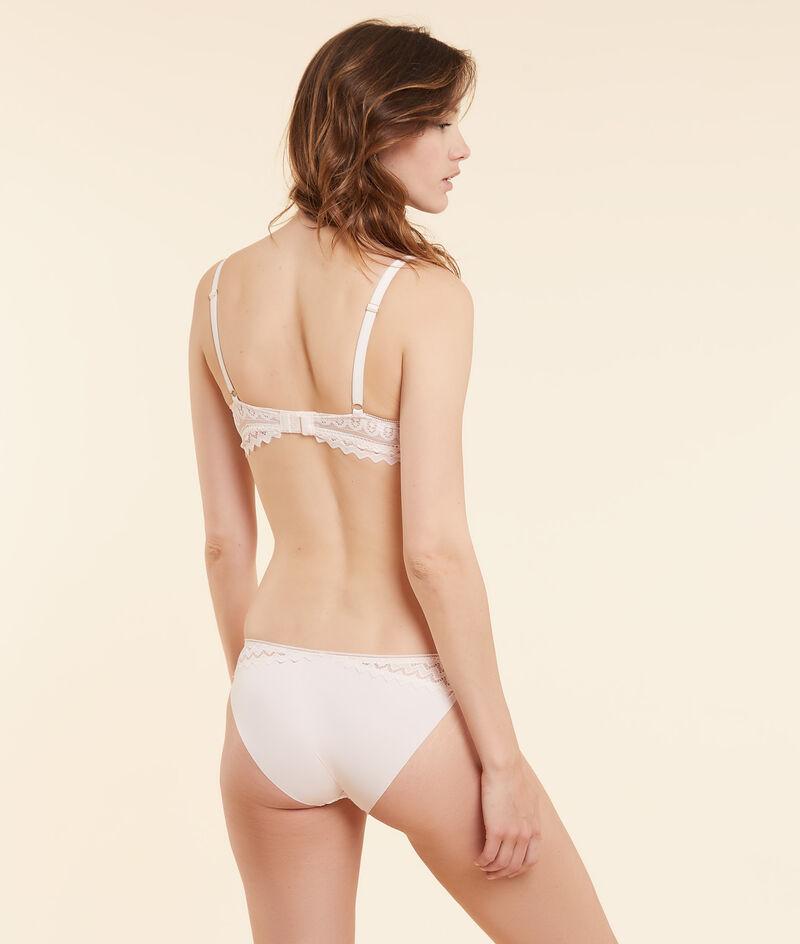 Lace and microfiber panties;${refinementColor}