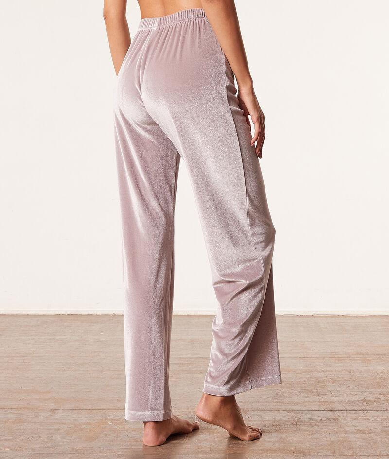 Velvet pyjama trousers ;${refinementColor}