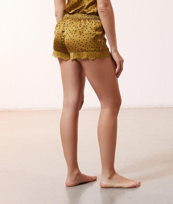 Satin pyjama short;${refinementColor}
